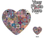Ornamental Mosaic Background Playing Cards 54 (Heart)  Front - Club7