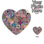 Ornamental Mosaic Background Playing Cards 54 (Heart)  Front - Spade9