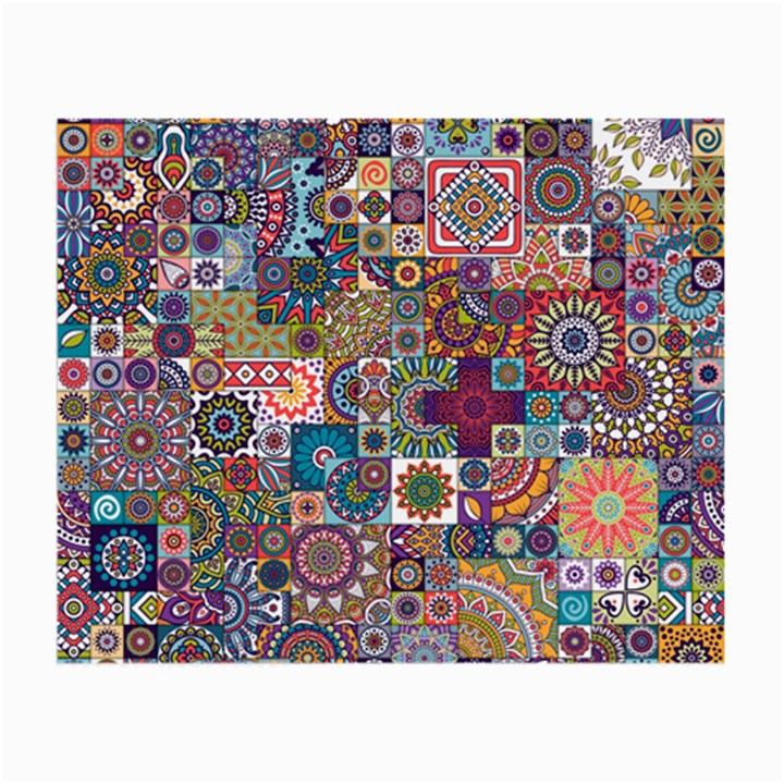 Ornamental Mosaic Background Small Glasses Cloth (2-Side)