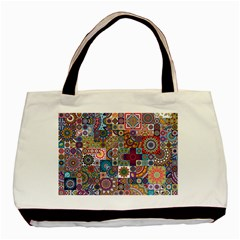 Ornamental Mosaic Background Basic Tote Bag (two Sides)