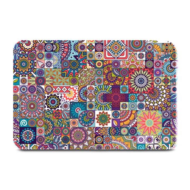 Ornamental Mosaic Background Plate Mats