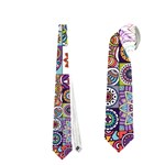Ornamental Mosaic Background Neckties (Two Side)  Back