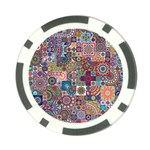 Ornamental Mosaic Background Poker Chip Card Guards Back