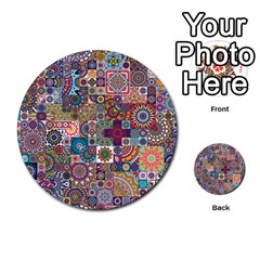Ornamental Mosaic Background Multi Purpose Cards (round)