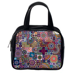Ornamental Mosaic Background Classic Handbags (one Side)