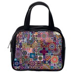 Ornamental Mosaic Background Classic Handbags (One Side) Front