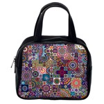 Ornamental Mosaic Background Classic Handbags (2 Sides) Back