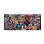 Ornamental Mosaic Background Hand Towel Front