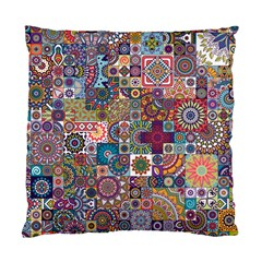 Ornamental Mosaic Background Standard Cushion Case (two Sides) by TastefulDesigns