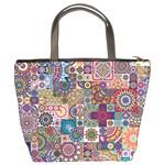 Ornamental Mosaic Background Bucket Bags Back