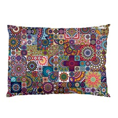 Ornamental Mosaic Background Pillow Case