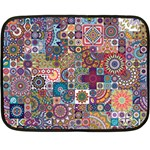 Ornamental Mosaic Background Double Sided Fleece Blanket (Mini)  35 x27 Blanket Back