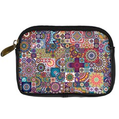 Ornamental Mosaic Background Digital Camera Cases