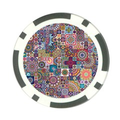 Ornamental Mosaic Background Poker Chip Card Guards (10 Pack)  by TastefulDesigns