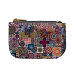 Ornamental Mosaic Background Mini Coin Purses Front
