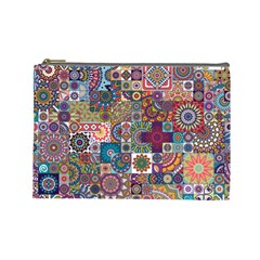 Ornamental Mosaic Background Cosmetic Bag (large)