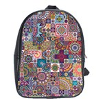 Ornamental Mosaic Background School Bags(Large)