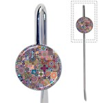 Ornamental Mosaic Background Book Mark Front
