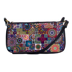 Ornamental Mosaic Background Shoulder Clutch Bags