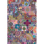 Ornamental Mosaic Background 5.5  x 8.5  Notebooks Back Cover Inside