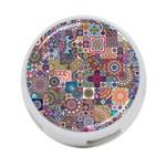 Ornamental Mosaic Background 4-Port USB Hub (One Side)