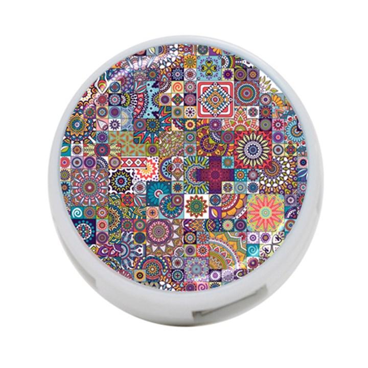 Ornamental Mosaic Background 4-Port USB Hub (Two Sides)
