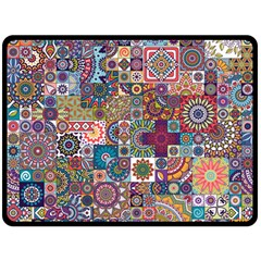 Ornamental Mosaic Background Fleece Blanket (large)