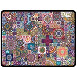 Ornamental Mosaic Background Fleece Blanket (Large)  80 x60 Blanket Front