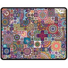 Ornamental Mosaic Background Fleece Blanket (Medium)