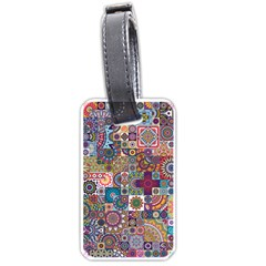 Ornamental Mosaic Background Luggage Tags (one Side)  by TastefulDesigns
