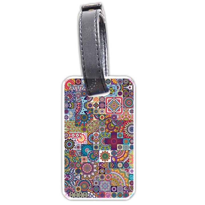 Ornamental Mosaic Background Luggage Tags (Two Sides)