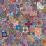 Ornamental Mosaic Background Magic Photo Cubes Side 1