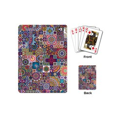 Ornamental Mosaic Background Playing Cards (mini)  by TastefulDesigns