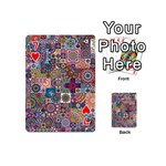 Ornamental Mosaic Background Playing Cards 54 (Mini)  Front - Heart7
