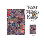 Ornamental Mosaic Background Playing Cards 54 (Mini)  Front - Heart10