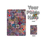 Ornamental Mosaic Background Playing Cards 54 (Mini)  Front - Diamond7
