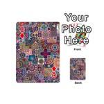Ornamental Mosaic Background Playing Cards 54 (Mini)  Front - DiamondQ