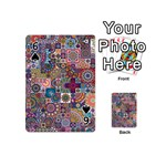 Ornamental Mosaic Background Playing Cards 54 (Mini)  Front - Spade6