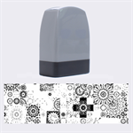 Ornamental Mosaic Background Name Stamps 1.4 x0.5  Stamp