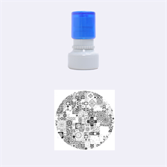Ornamental Mosaic Background Rubber Round Stamps (small)