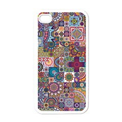 Ornamental Mosaic Background Apple Iphone 4 Case (white) by TastefulDesigns