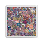 Ornamental Mosaic Background Memory Card Reader (Square)  Front