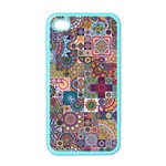 Ornamental Mosaic Background Apple iPhone 4 Case (Color) Front