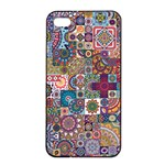 Ornamental Mosaic Background Apple iPhone 4/4s Seamless Case (Black)