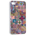 Ornamental Mosaic Background Apple iPhone 4/4s Seamless Case (White)