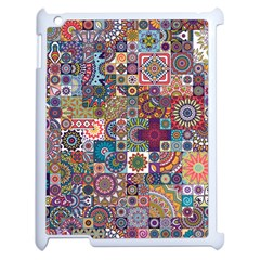 Ornamental Mosaic Background Apple Ipad 2 Case (white) by TastefulDesigns
