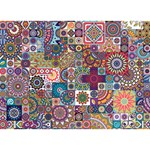 Ornamental Mosaic Background YOU ARE INVITED 3D Greeting Card (7x5) Front