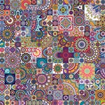 Ornamental Mosaic Background BEST SIS 3D Greeting Card (8x4) Inside