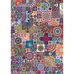 Ornamental Mosaic Background Miss You 3D Greeting Card (7x5) Inside