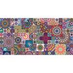Ornamental Mosaic Background Happy New Year 3D Greeting Card (8x4) Back